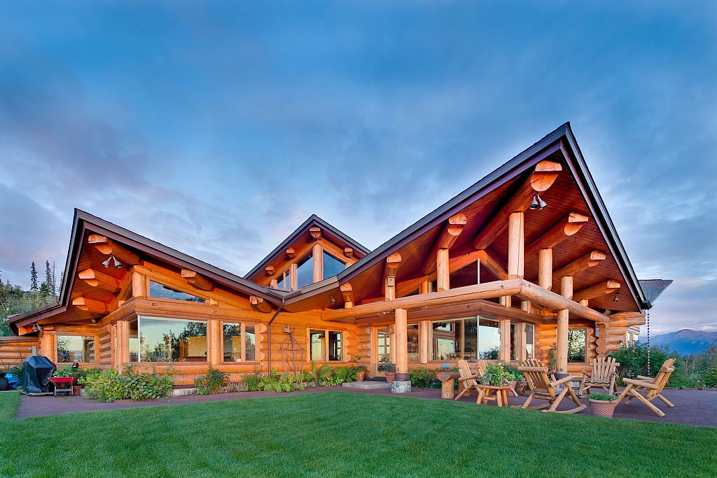 Ivy and co architects contemporary log for Home builders alaska
